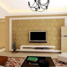 Комбинированные обои в гостиную – правила оптимального выбора