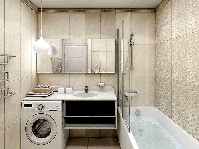 Перламутровые оттенки в интерьере ванной комнаты