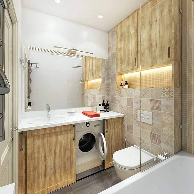 Уютная отделка ванной комнаты