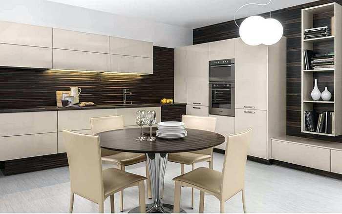 Дизайн интерьера современной кухни в стиле минимализм