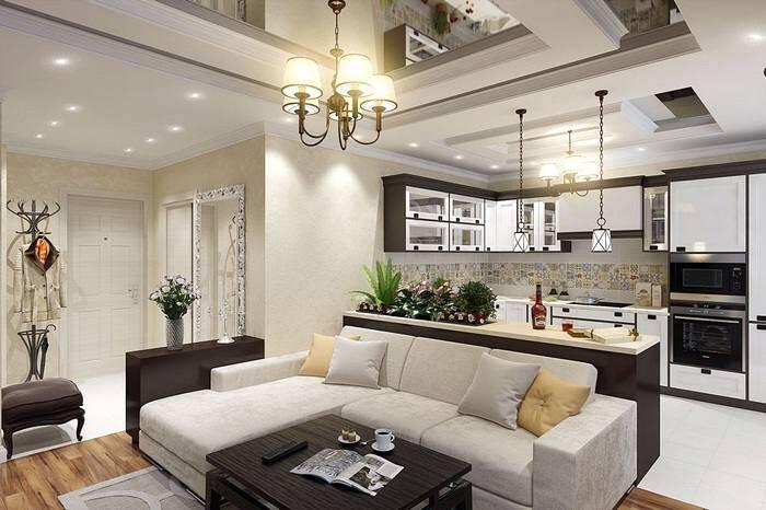Стиль хай-тек в интерьере квартиры-студии