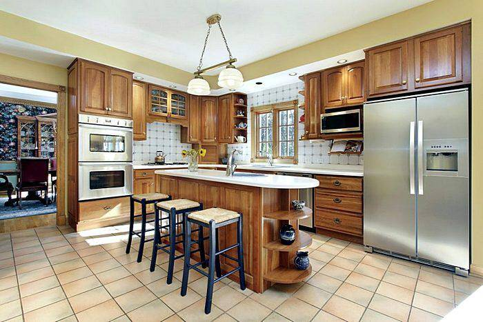Кухонный гарнитур из натуральных материалов