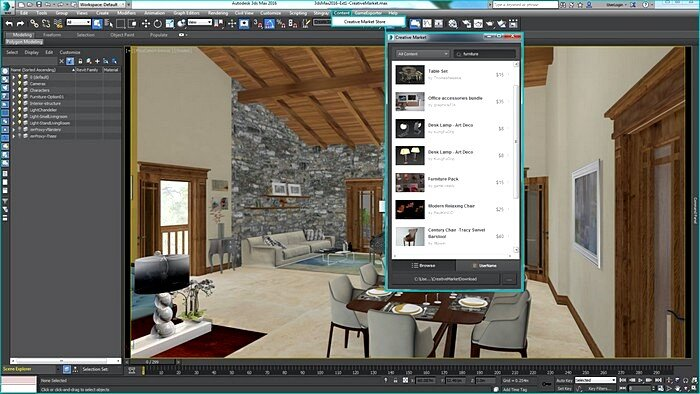 Интерфейс программы 3D Max
