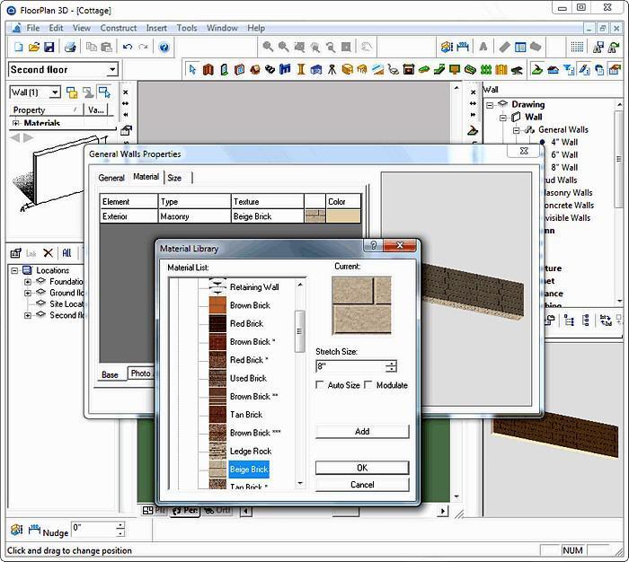 Интерфейс программы FloorPlan 3D