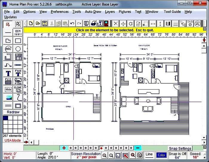 Интерфейс программы для дизайна интерьера Home Plan Pro