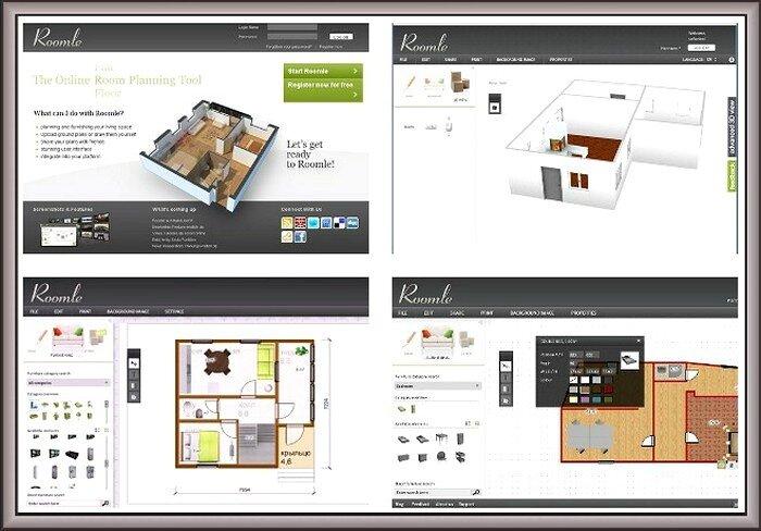 Интерфейс программы для дизайнеров интерьера Roomle