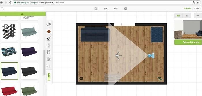 Интерфейс программы Roomstyler