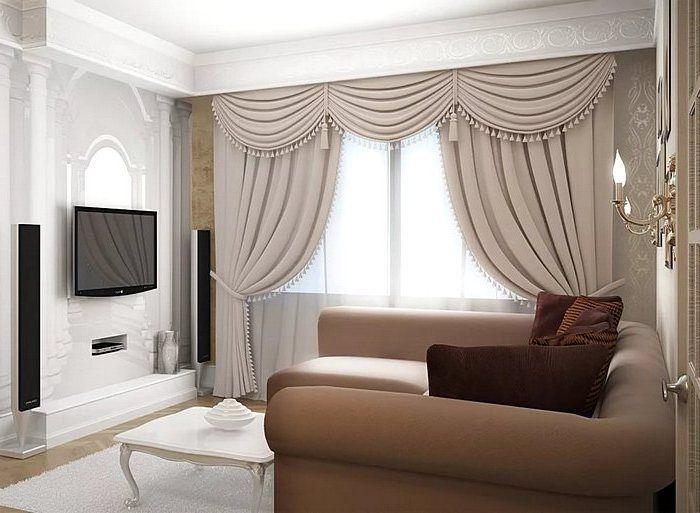 Соответствие штор размерам гостиной комнаты