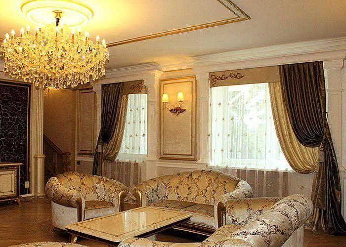 Классические шторы для гостиной