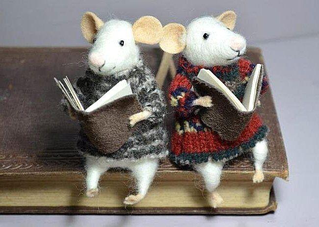 Симпатичные новогодние крыски