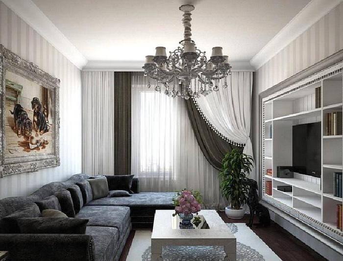 Модные шторы в классической гостиной