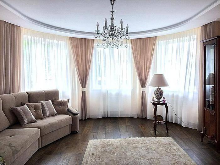 Модные шторы для гостиной комнаты