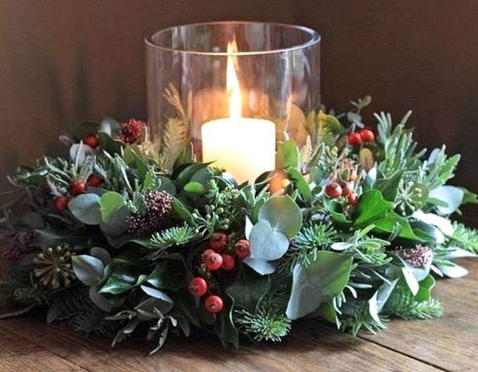 Новогодняя свеча в стакане