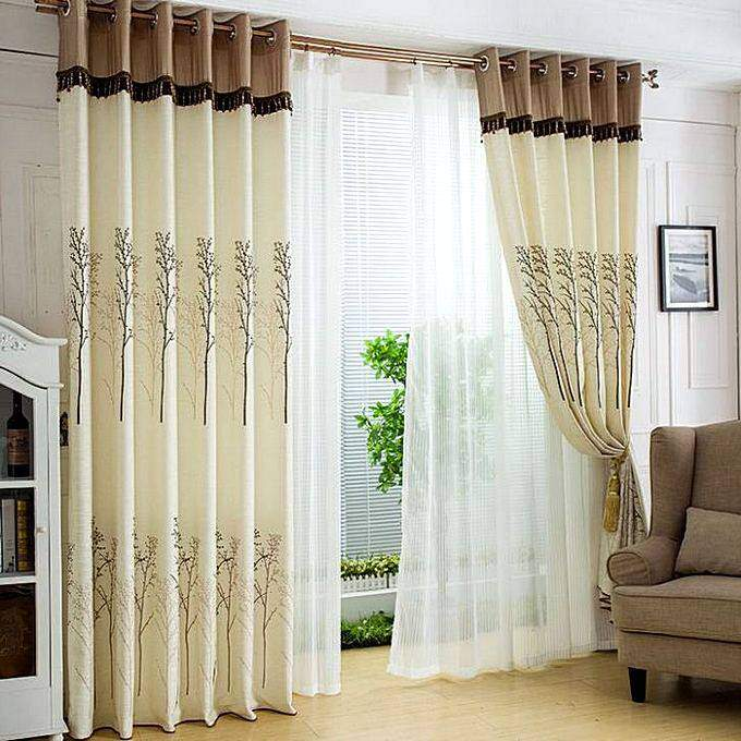 Современные комбинированные шторы для зала