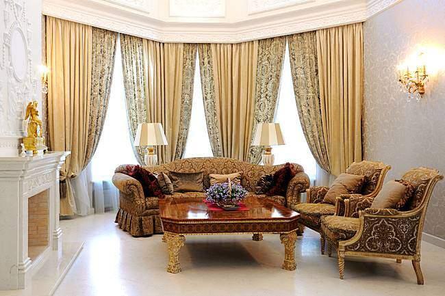 Роскошные шторы в классическом стиле
