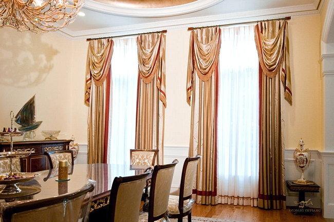 Классические шторы в современном стиле
