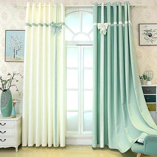 Красивые шторы мятного цвета