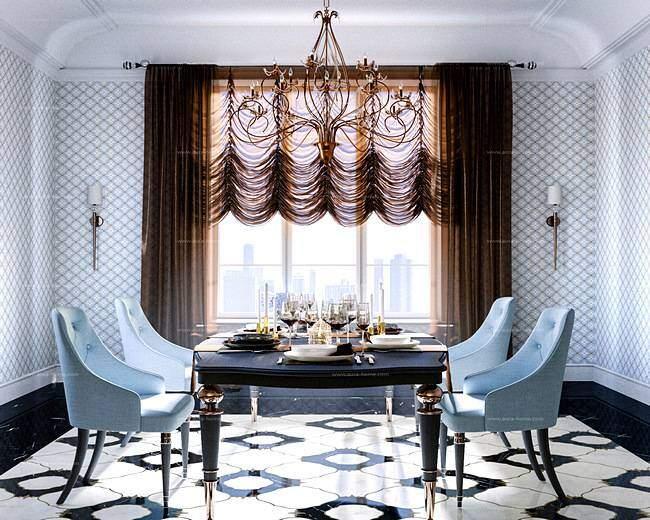 Стильные французские шторы