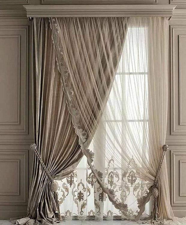 Итальянские шторы в классическом интерьере