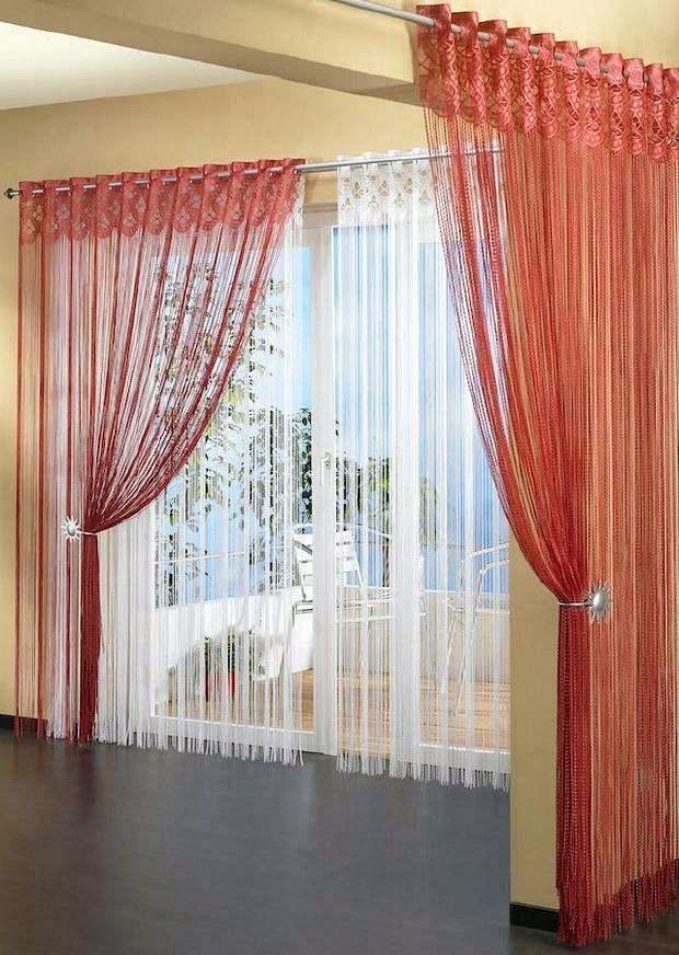 Нитяные шторы для окна и перегородки