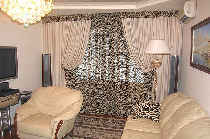 Оригинальные шторы для гостиной