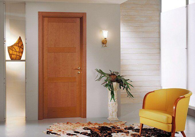 Цвет двери в интерьере по принципу контраста