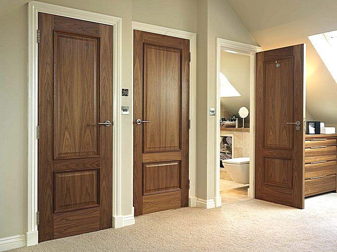Двери с покрытием из натурального шпона