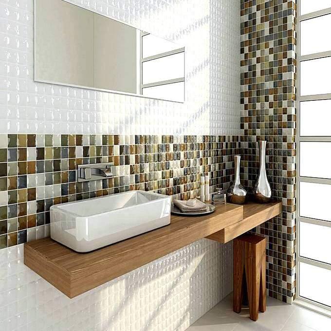 Плитка в ванной в виде мозаики