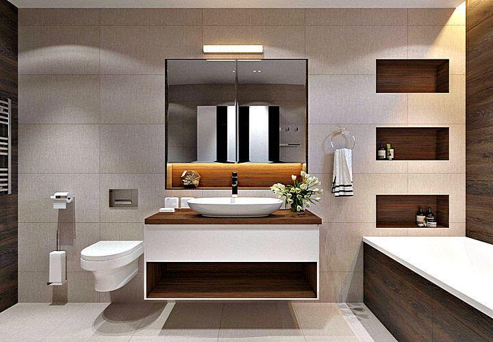 Современный дизайн ванной комнаты - фото с описанием