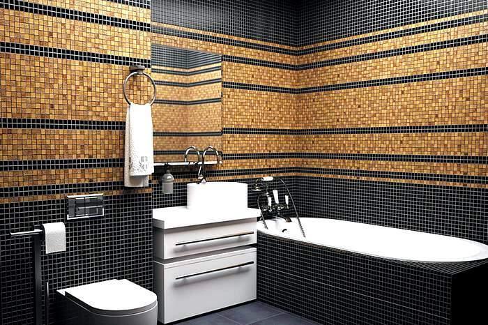 Ванная комната с отделкой мозаикой