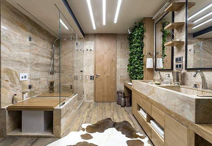 Ванная комната в экологическом стиле