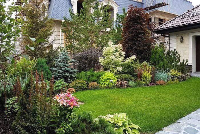 Ландшафтный дизайн с газоном своими руками