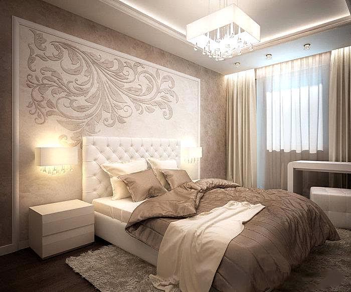 Дизайн спальной комнаты в бежевых тонах