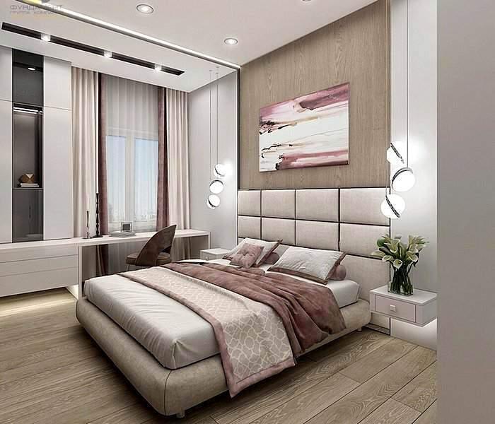 Минималистический дизайн спальни 12 кв.м