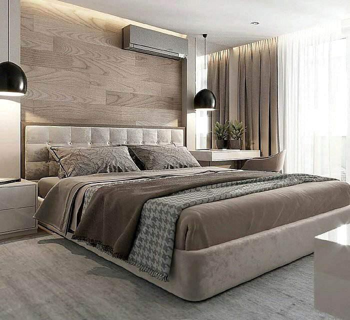 Модный дизайн спальной комнаты