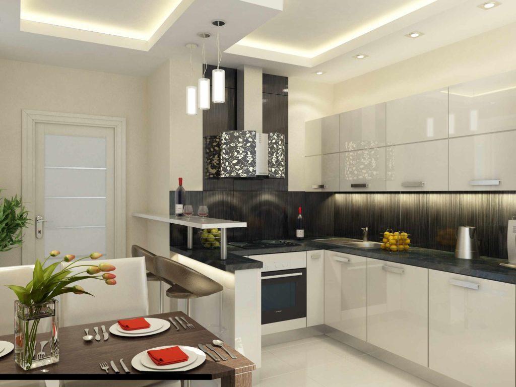 Современный дизайн кухни 10 кв. метров