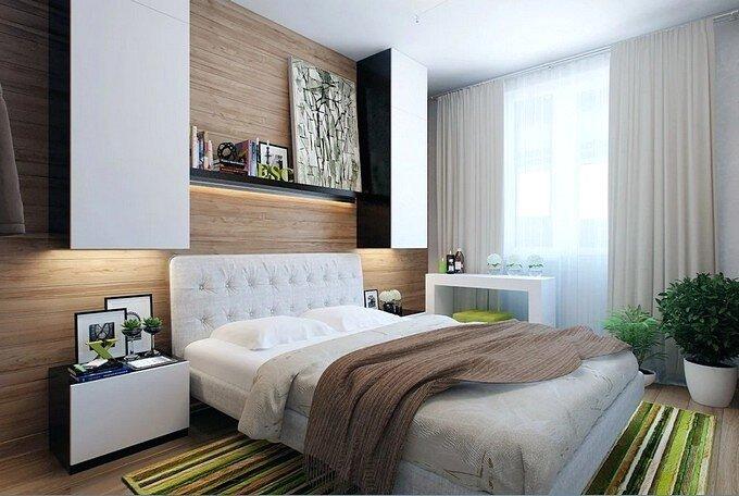 Дизайн современной спальни 12 кв.м