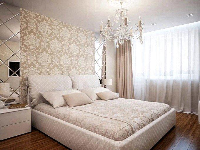 Дизайн спальни 12 кв.м в кофейных тонах