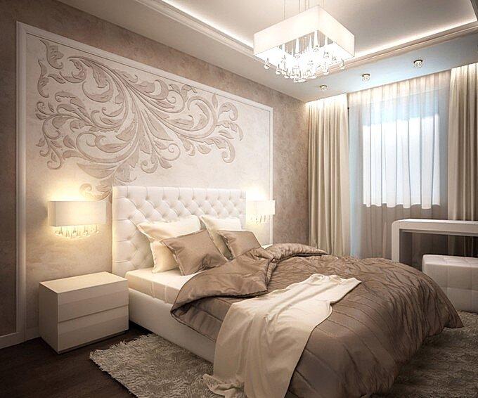 Спальня 12 кв.м в современном стиле