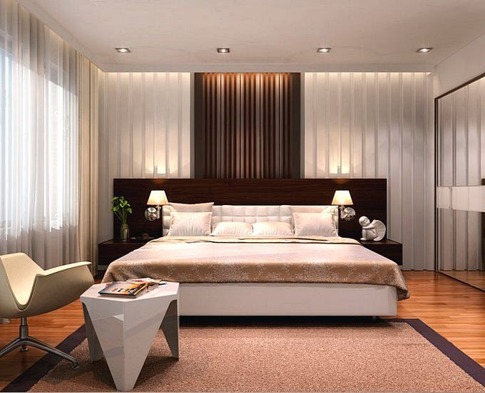 Современный дизайн спальни 15 кв.м