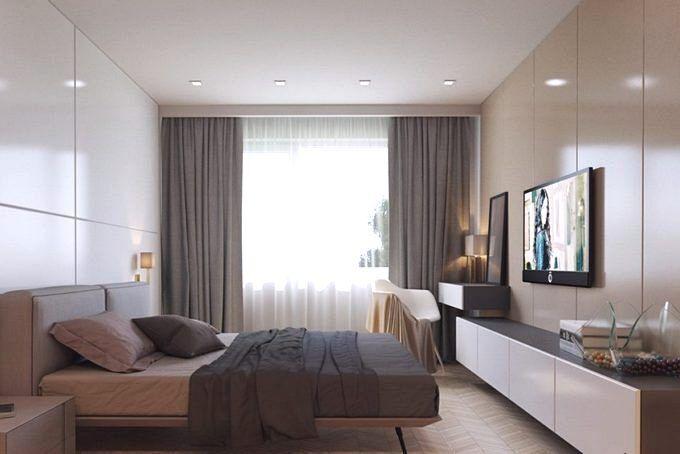 Дизайн спальни 18 кв.м в стиле минимализм