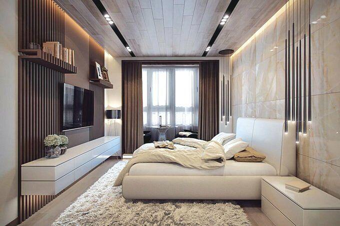 Спальня 18 кв.м в современном стиле