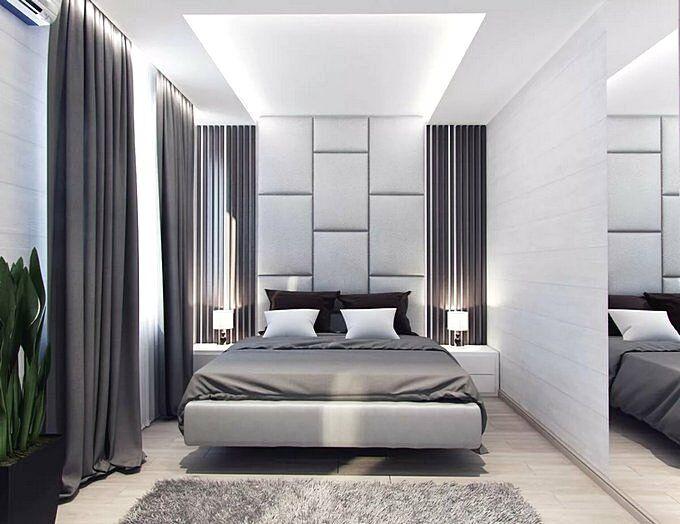 Спальня 9 кв.м в стиле минимализм