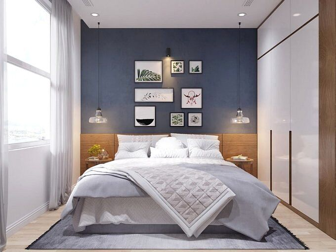Спальня 9 кв.м в современном стиле