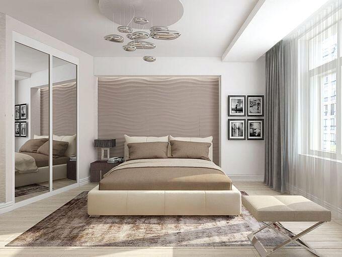 Дизайн спальни в стиле контемпорари