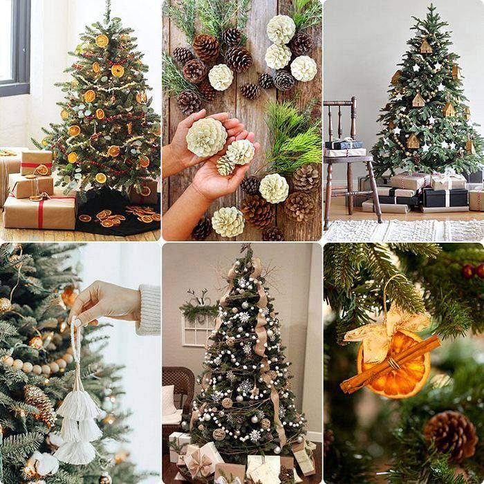 Новогодние елки в экостиле
