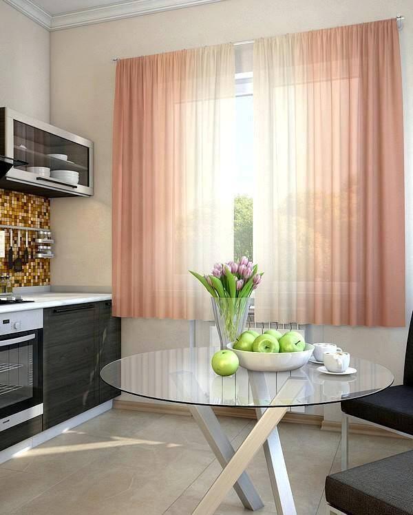 Современные шторы для маленькой кухни