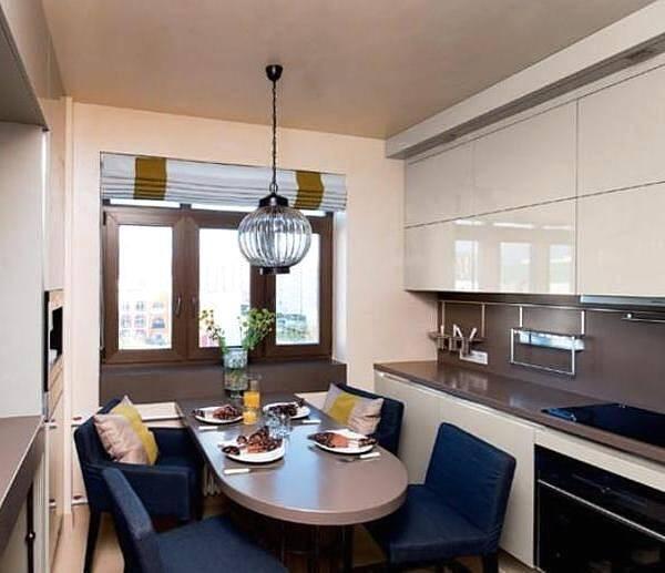 Складывающиеся шторы для современной кухни