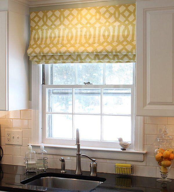 Складывающиеся шторы для кухни