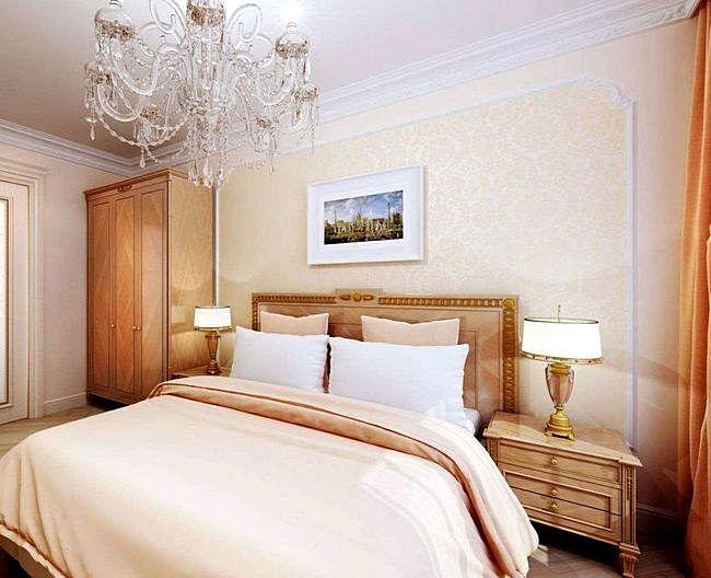 Современная люстра для спальни в стиле неоклассика